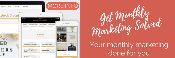 Monthly Marketing Solved Focus